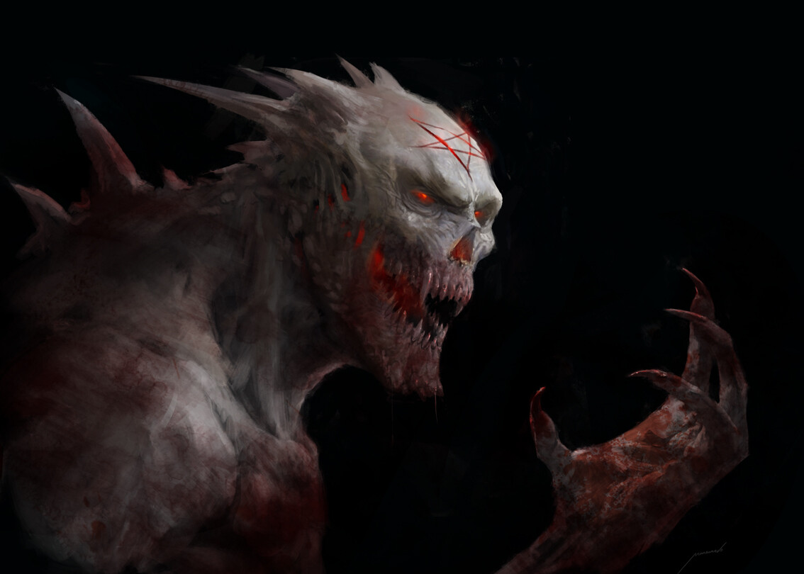 Blood thirsty demon