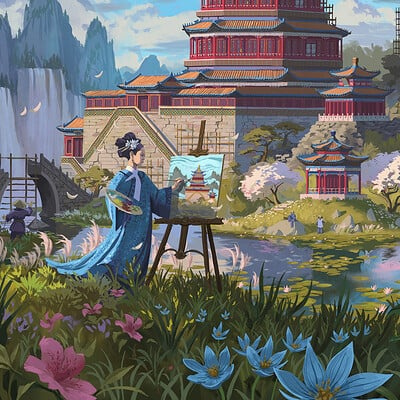 Quentin regnes summer palace cover final painting 2000px
