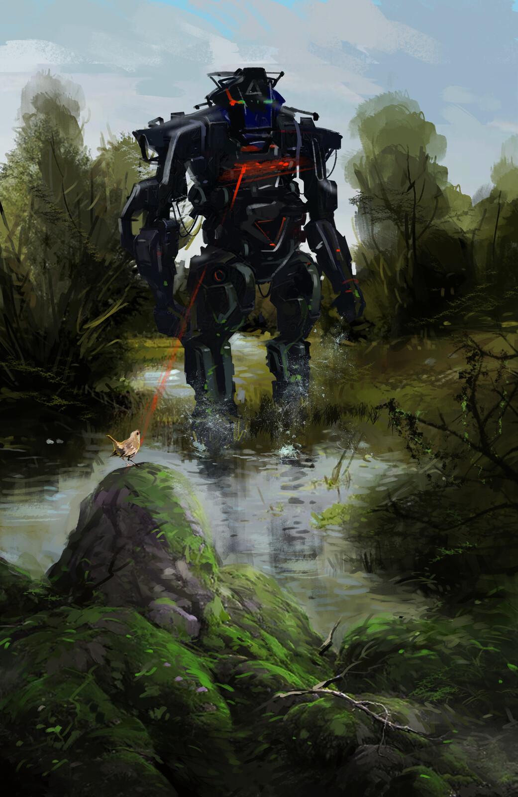 robot on nature ... 1