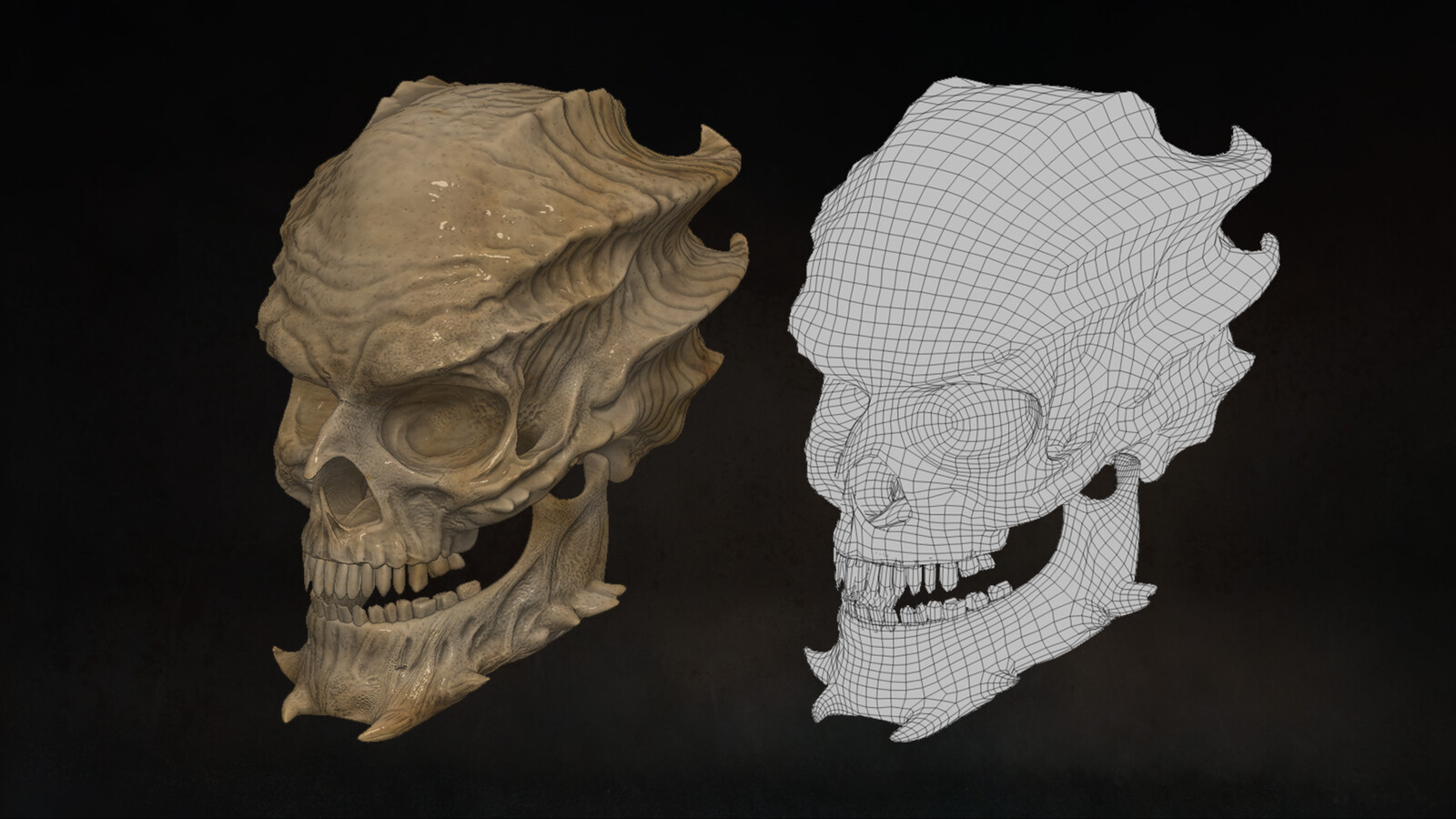 Base topology  of  demon skull