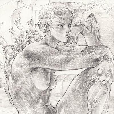 Atom cyber naked cyborg