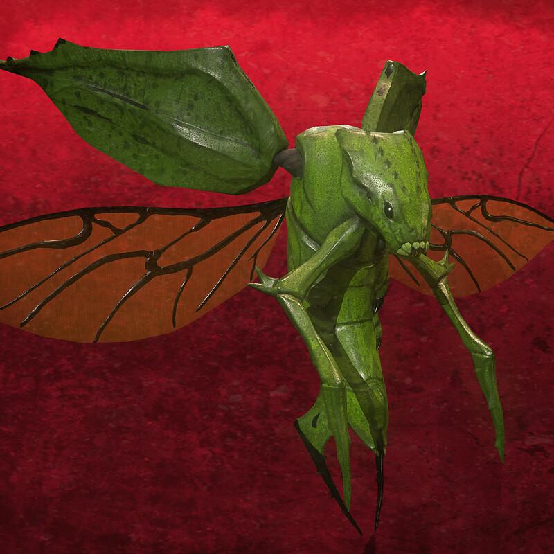 Fly Monster - Game model - Lethal Art Studio
