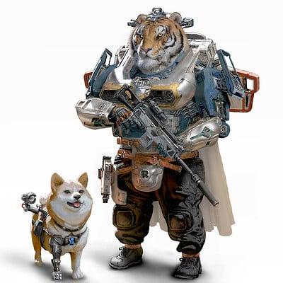 Ruan jia tiger and his friend