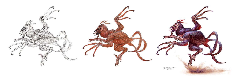 Final Illustration Process. Pencil, Watercolor, Photoshop