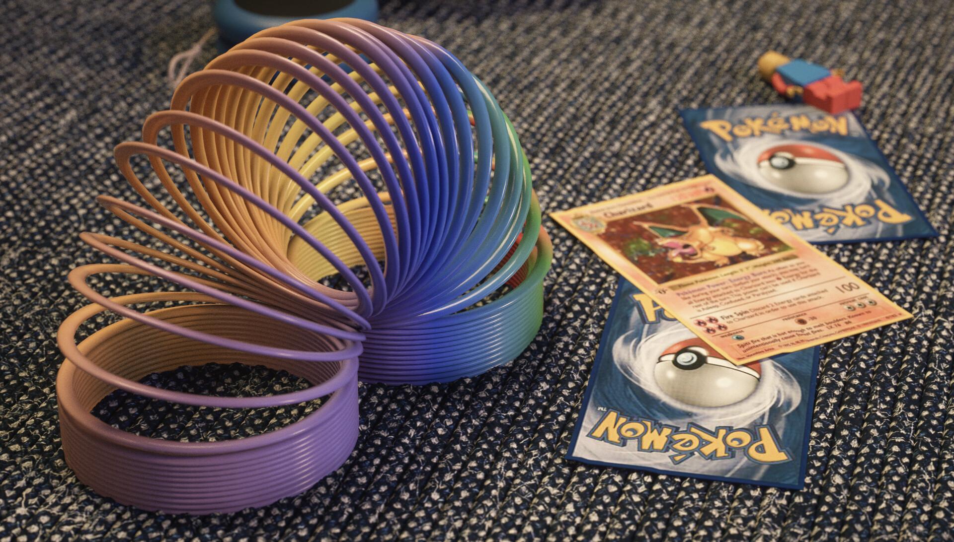 Slinkys, Lego and Pokemon cards :)