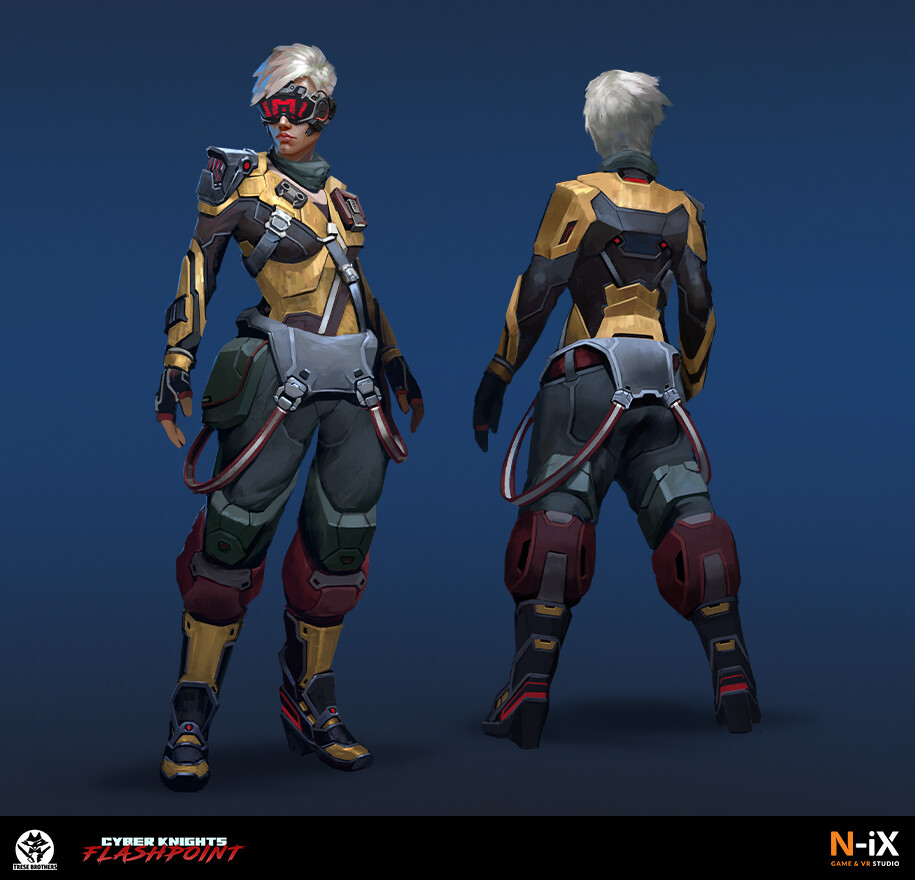 Cyber Knight: Flashpoint Character concept