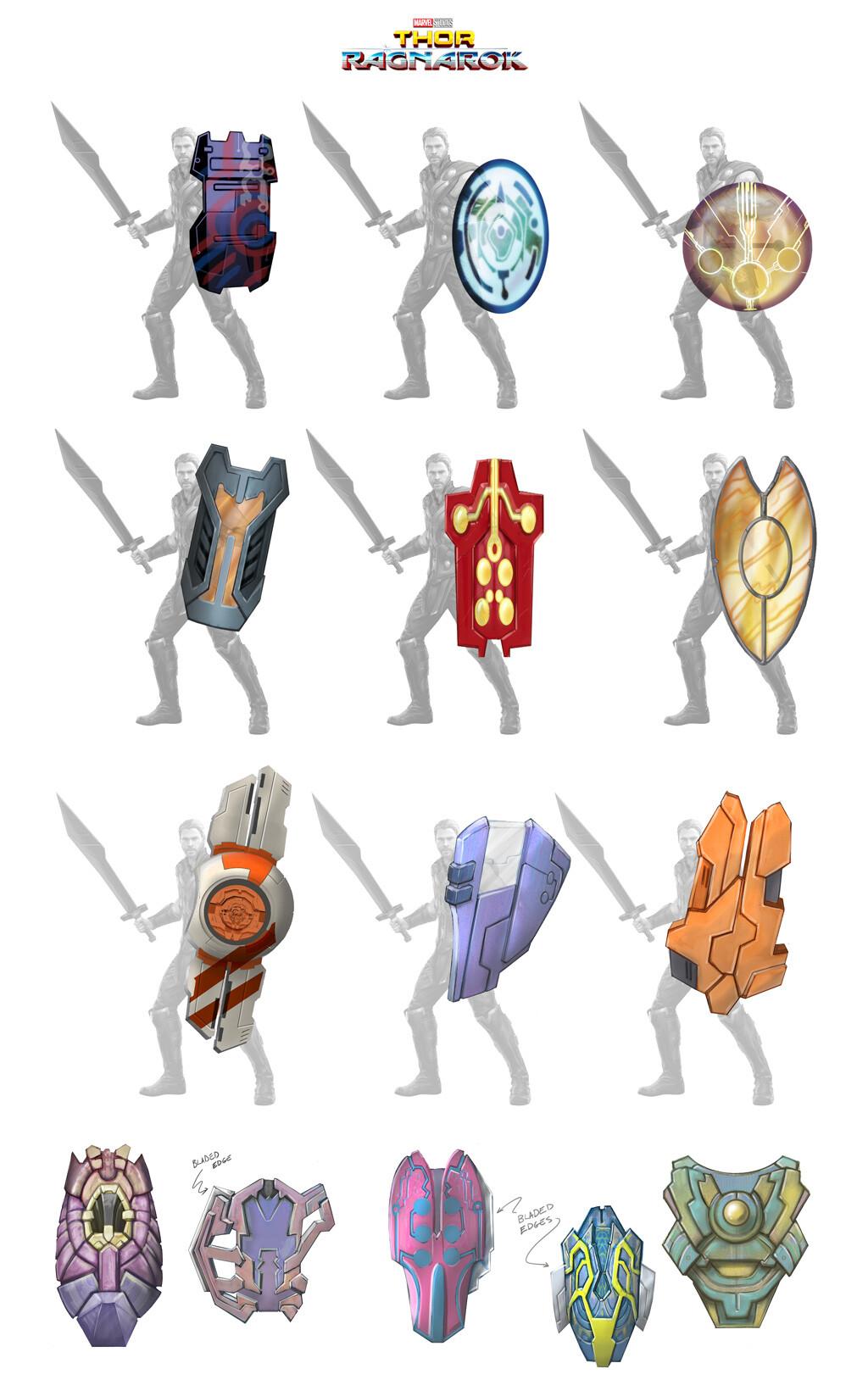 Sakaar - shield  variants/roughs.