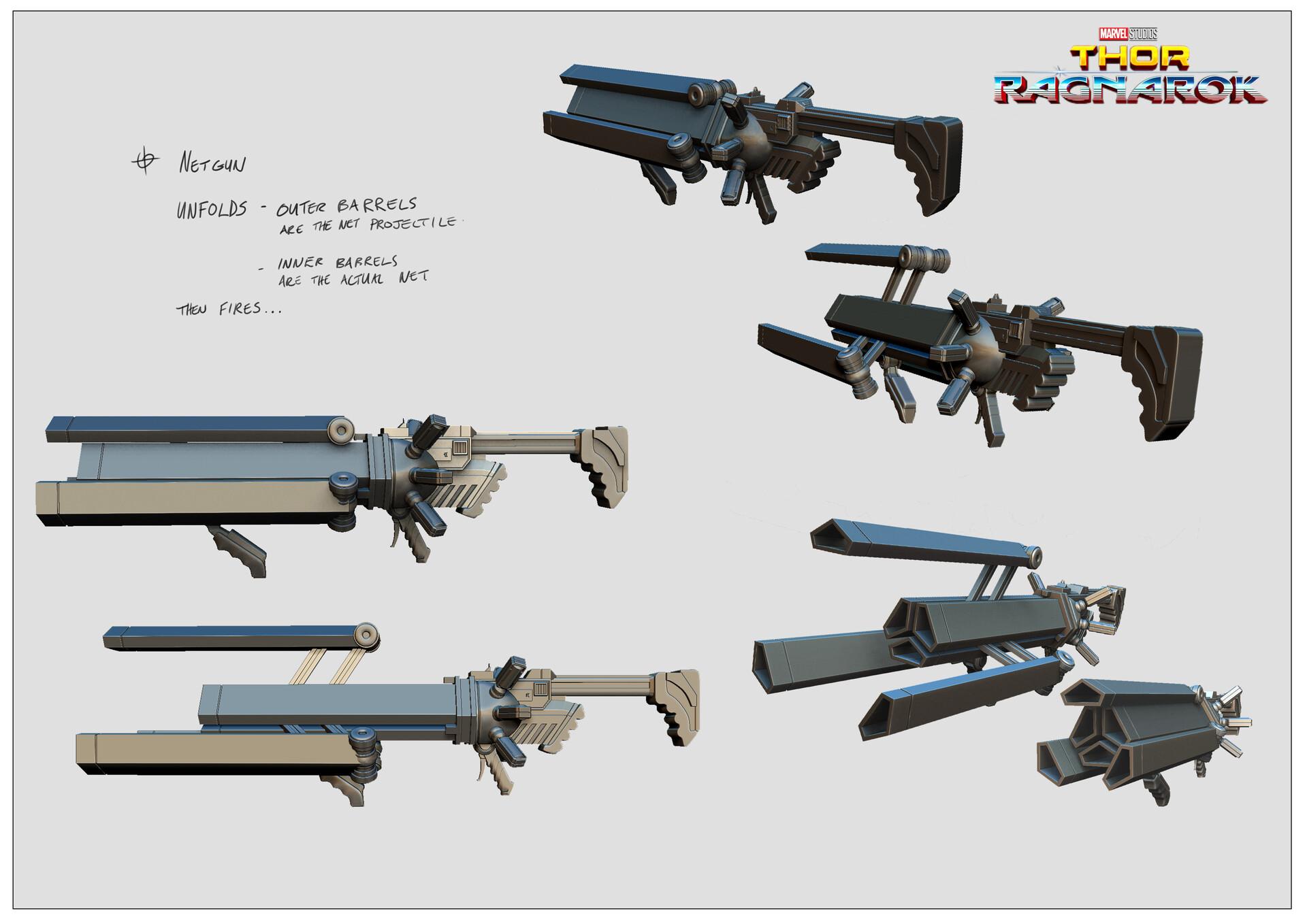 Net gun concept model.
