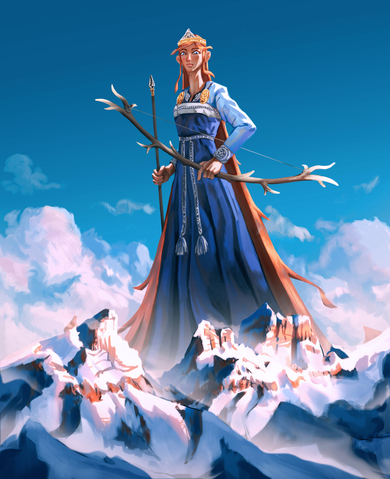 Skadi - Norse Goddess of Winter, hunting and skiing
