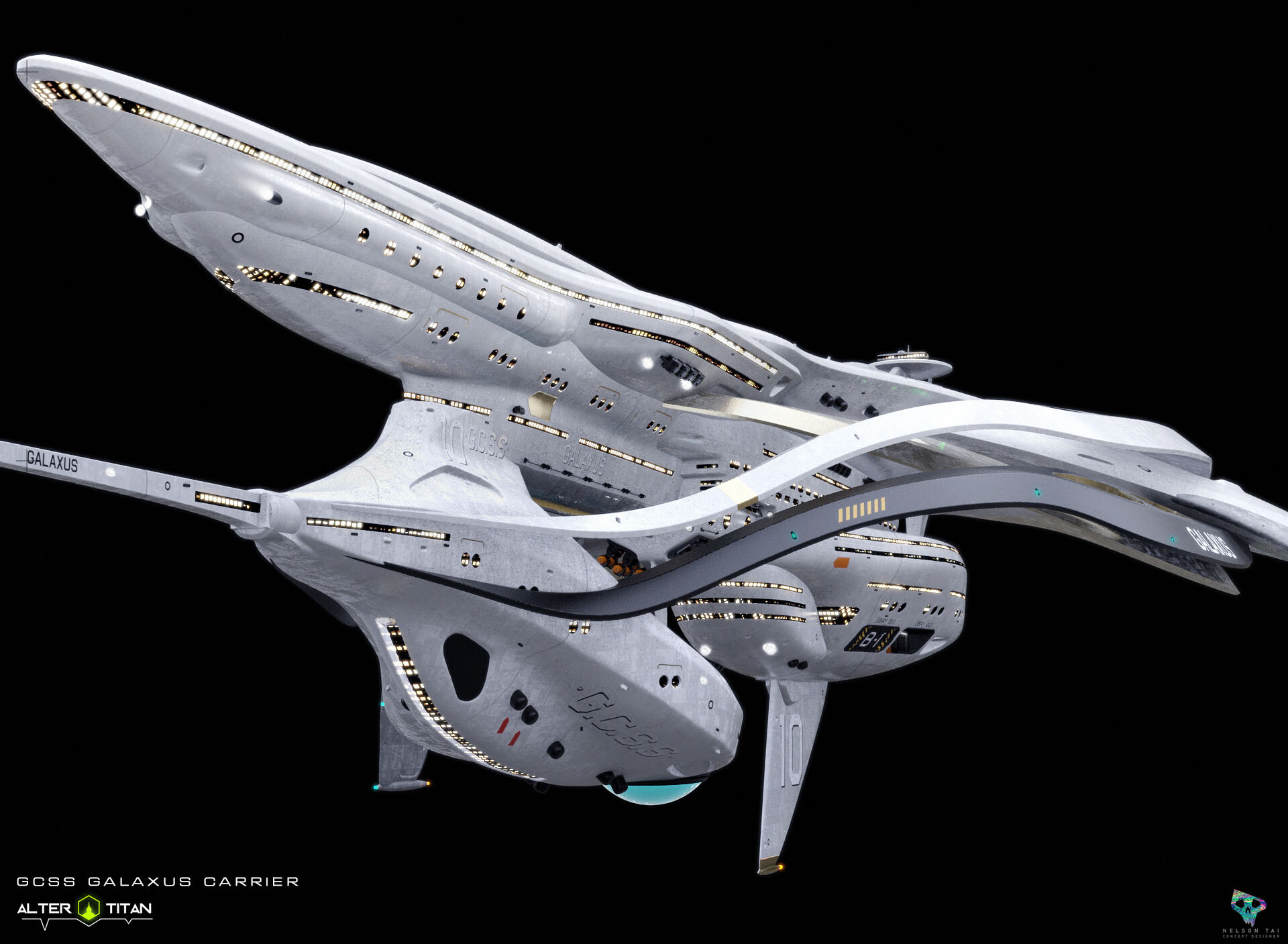 Worked with client to add more areas onto the ship to allow range of ideas of what Titans can do onboard.