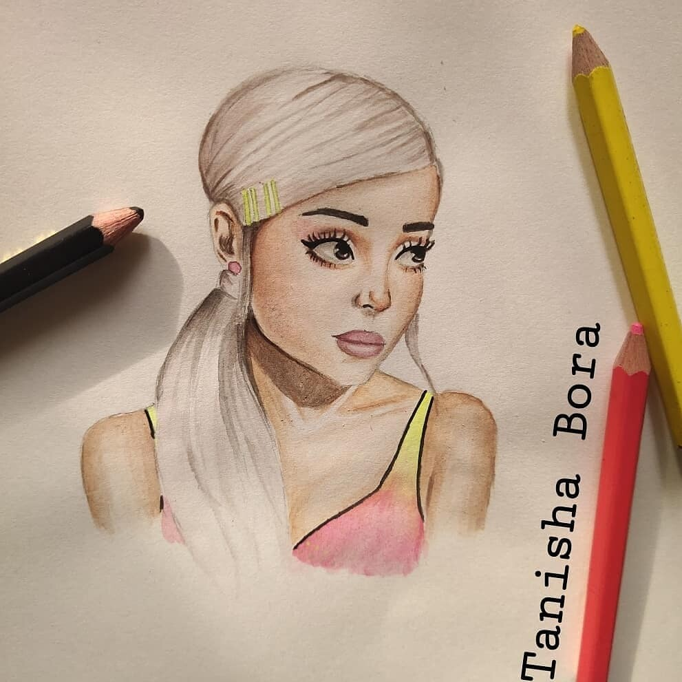 Tanisha Bora Ariana Grande Cartoon Drawing