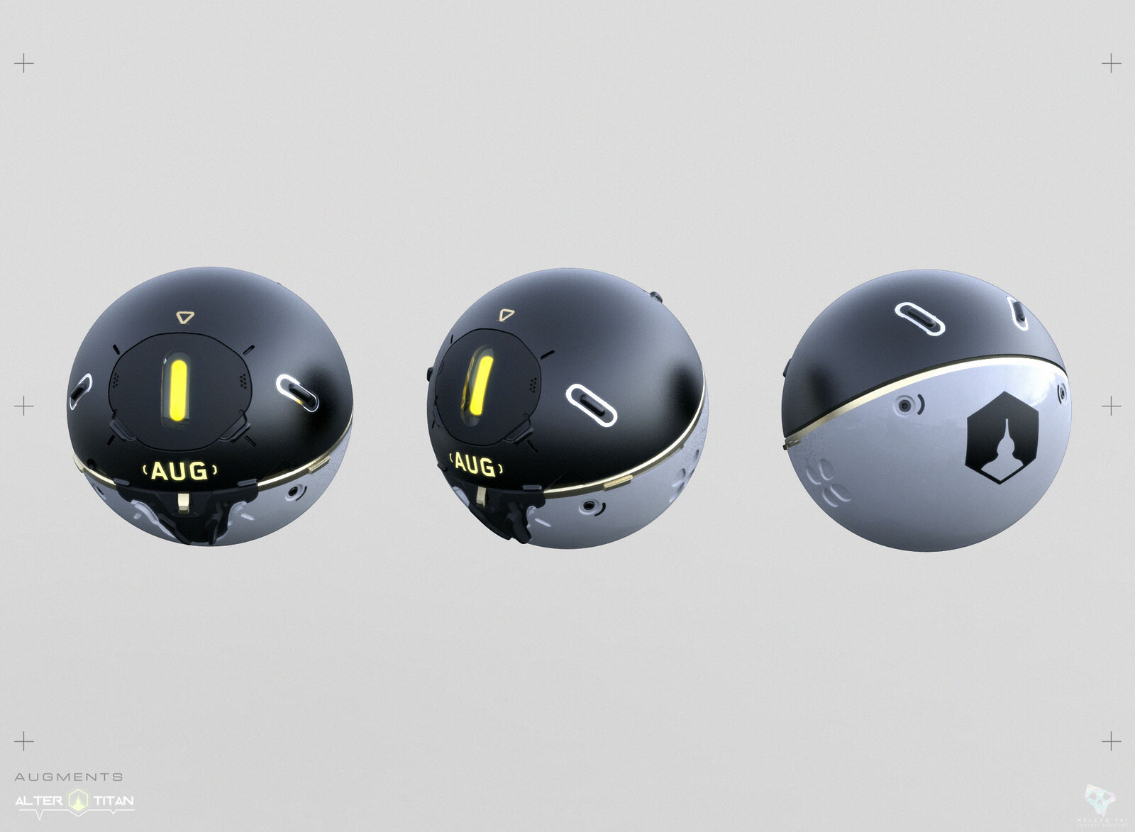 Augmentation Sphere. Special items to use for enhancing your Titan's stats.
