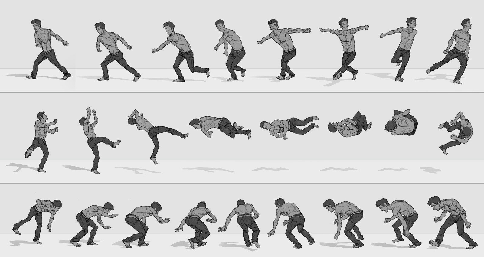 Bodies in Motion Animation Sequence