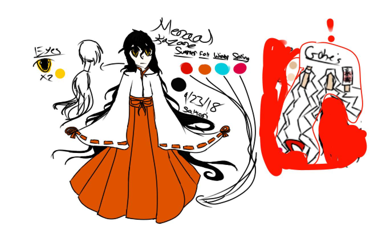 Old design (9-23-18) Her old name was Menaal. She is now named Kokoro Kazane.