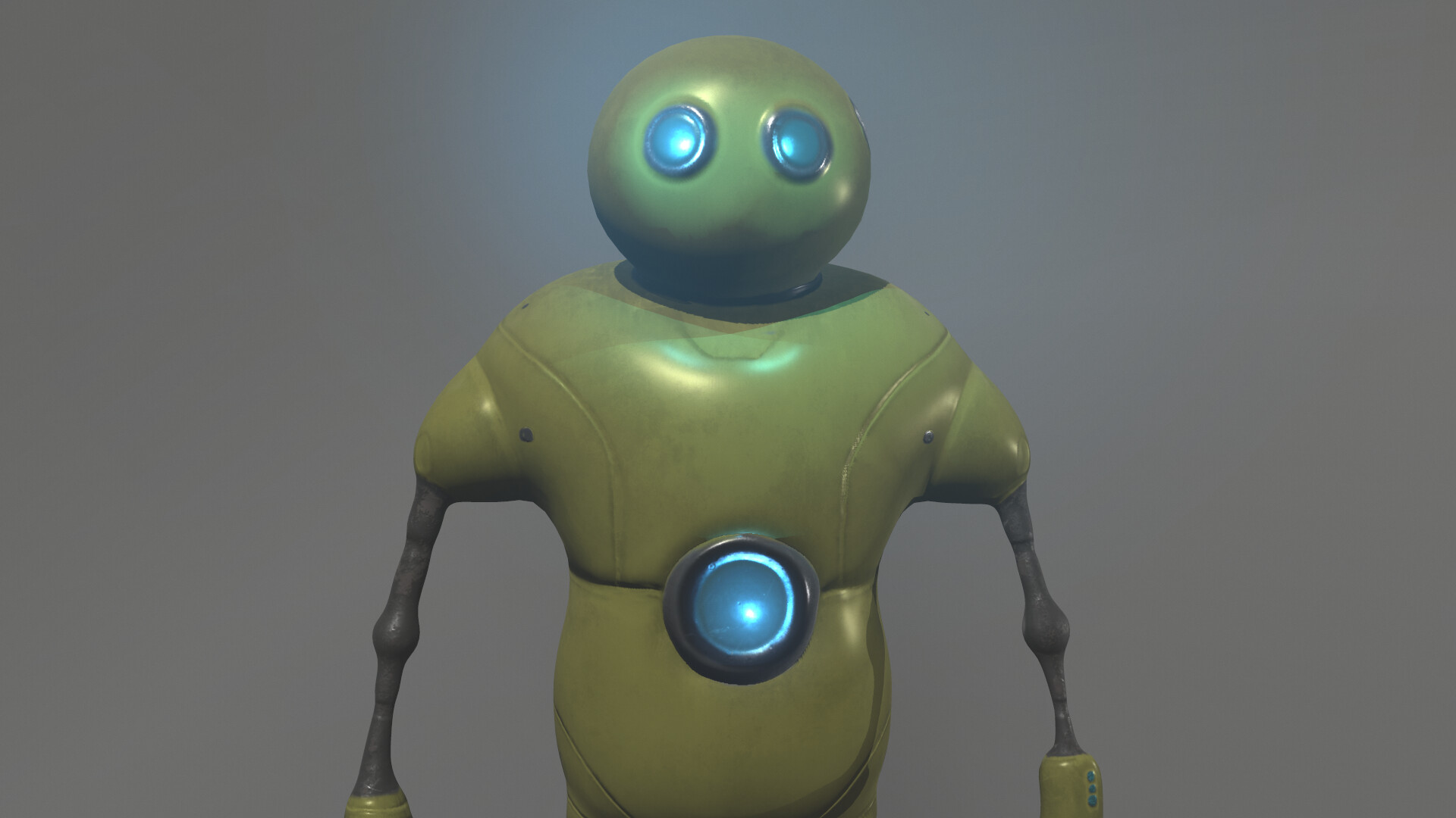 Front render of character model