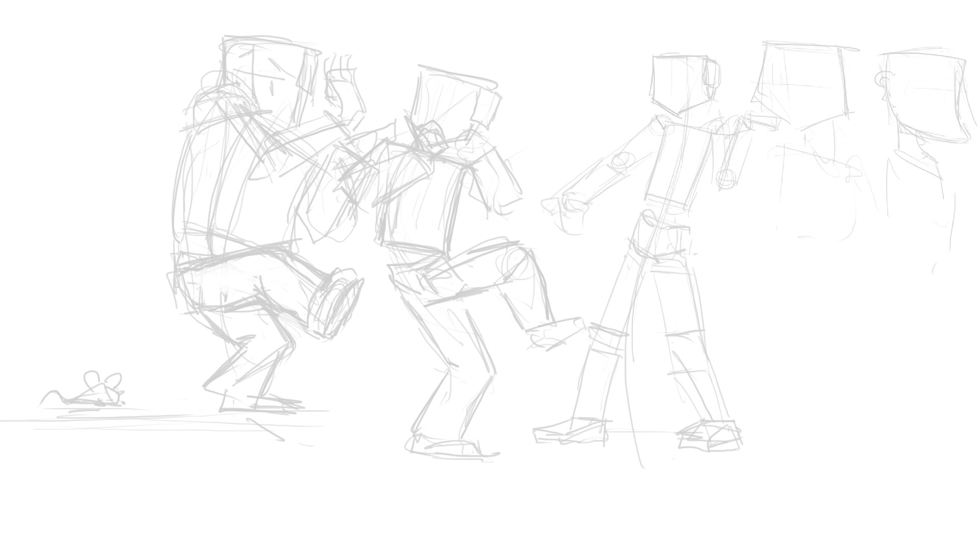 Rough Sketches and gestures.