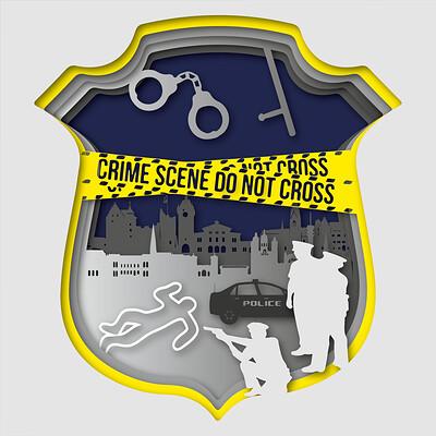 Marc michel munch 03 scherenschnitt polizeiprojekt scherenschnitt polizei