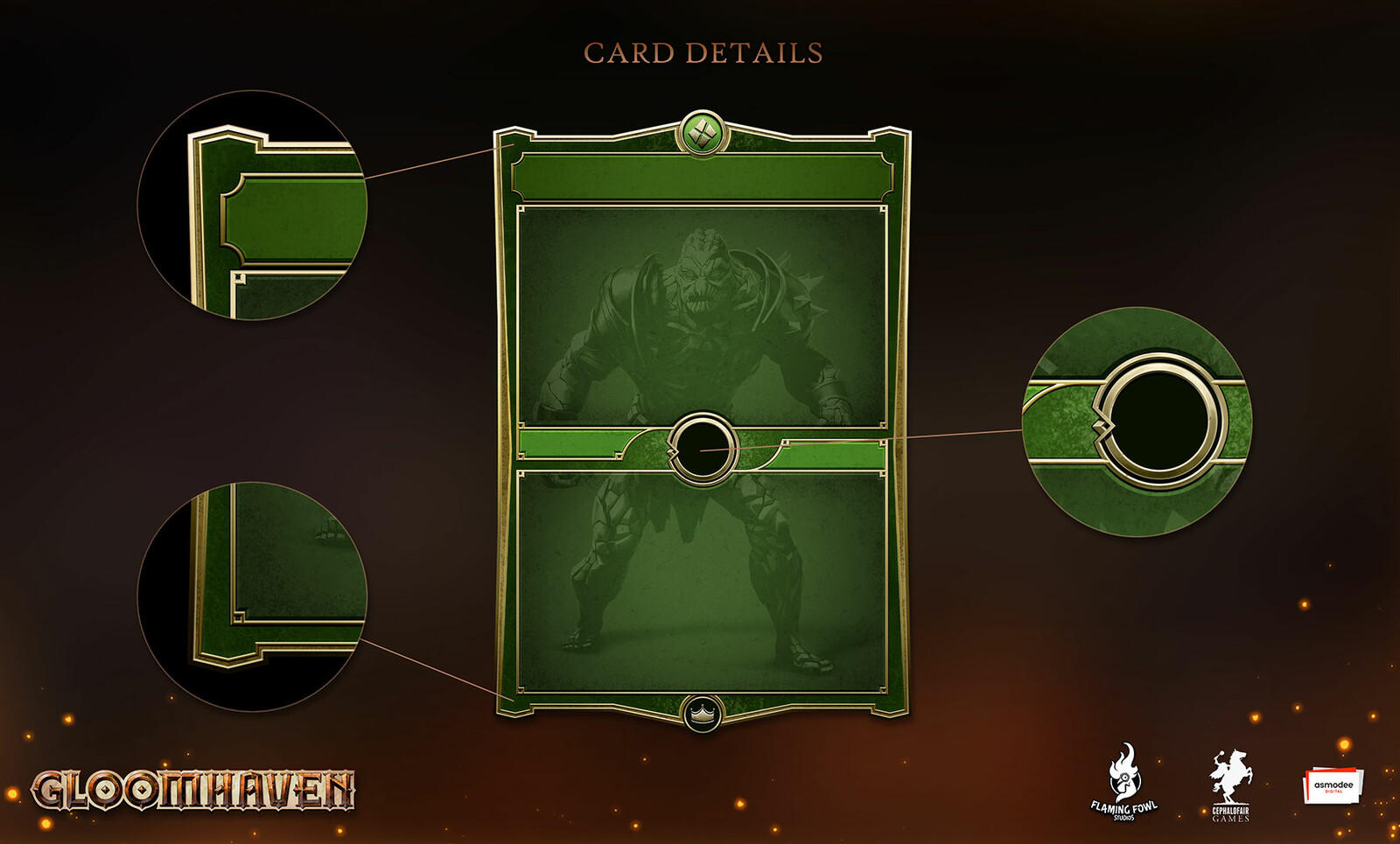 I wanted the cards to feel valuable and also make use of some nice textures.