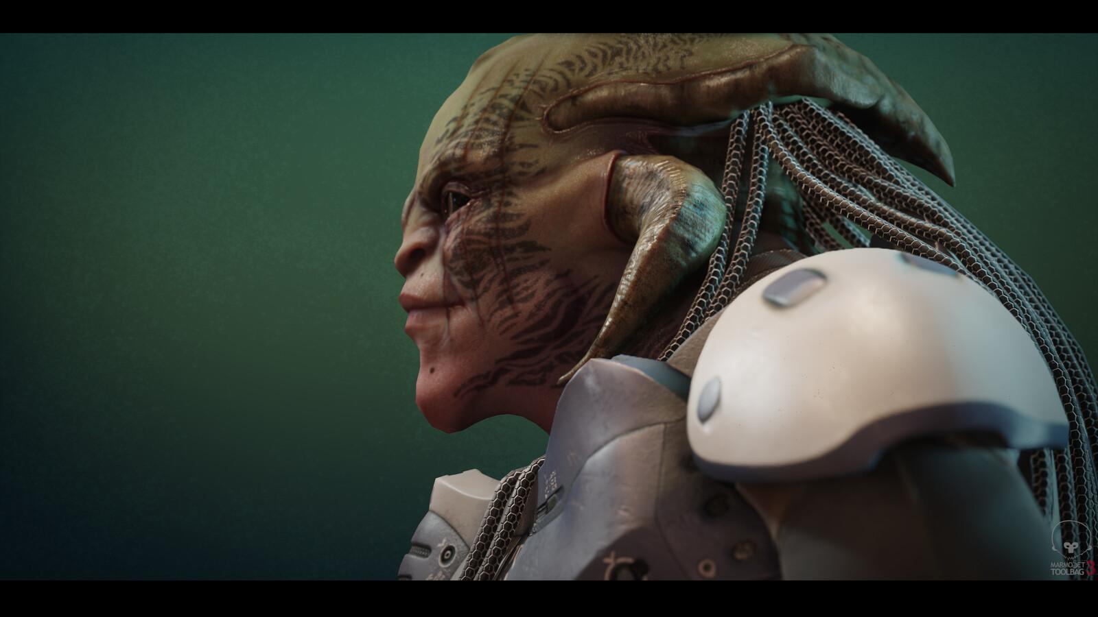 "Alien Bust ""Realtime Character Practice"""