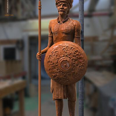 Surajit sen raghav digital sculpture surajitsen april2020ss