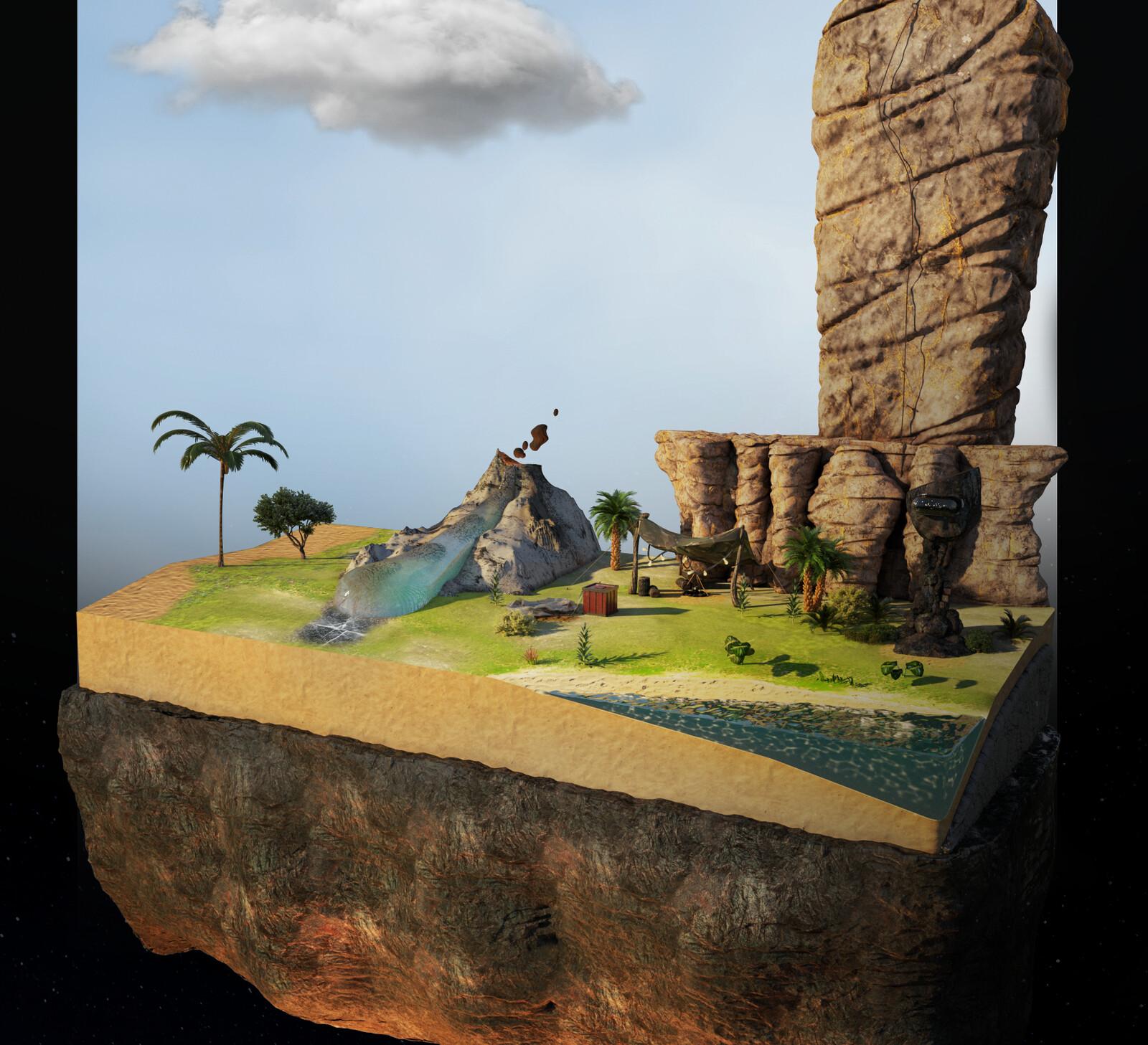 Low-Poly Island