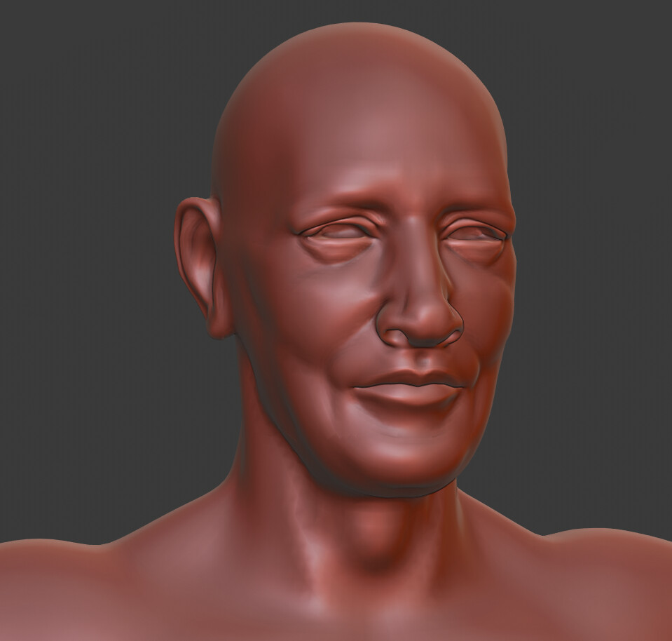 Early in the sculpting process