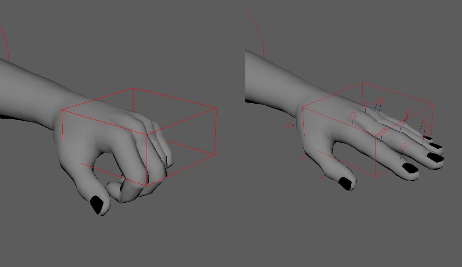 Hand deformations