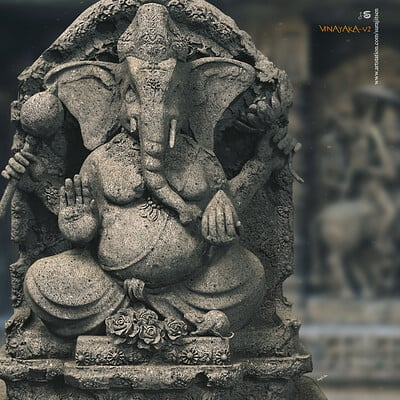 Surajit sen vinayaka v2 digital sculpture surajitsen april2020ss