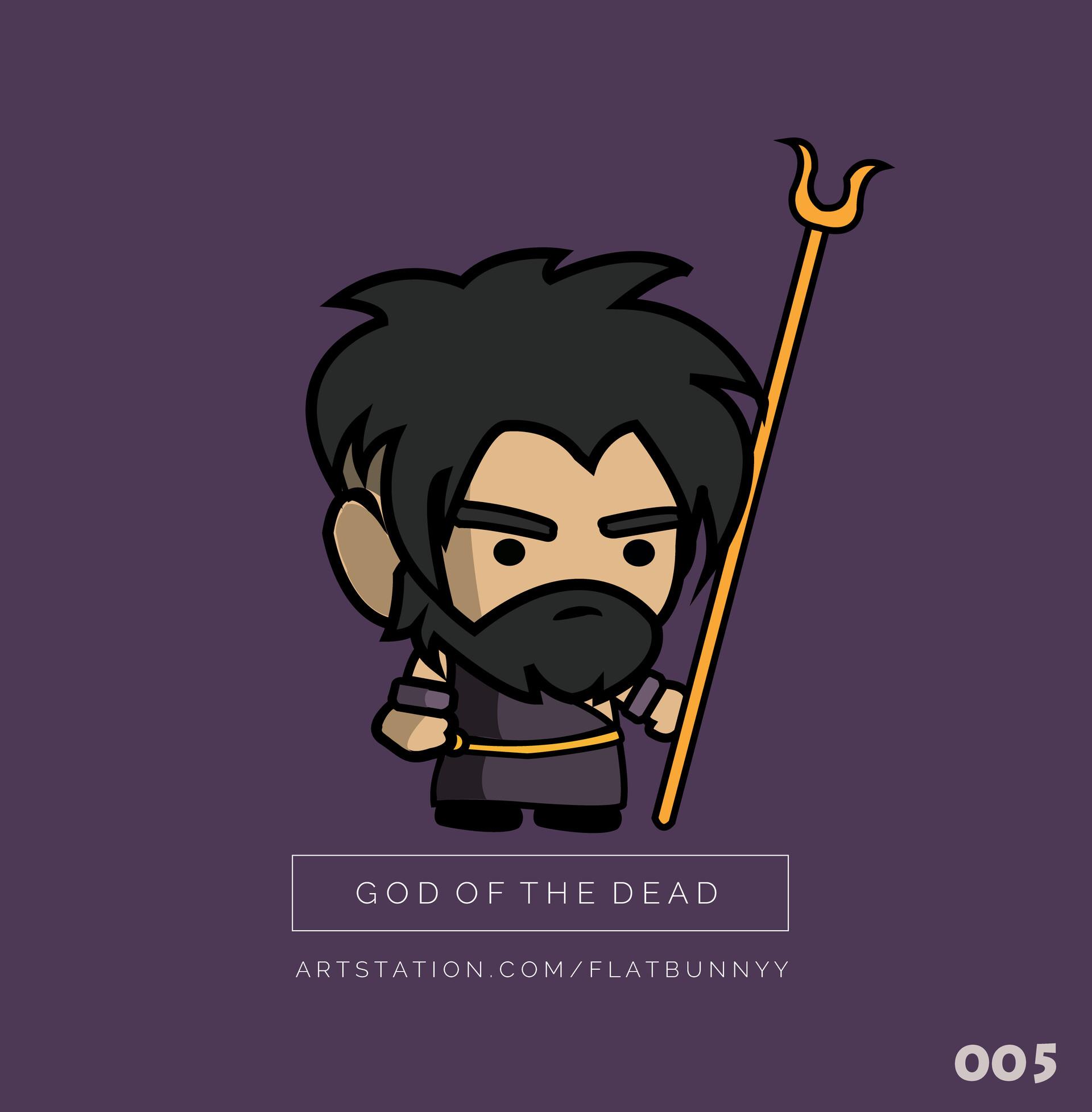 Artstation God Of The Dead Hades Flat Bunnyy