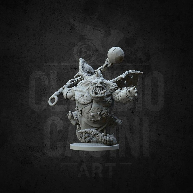 Demon Miniature Base 25mm