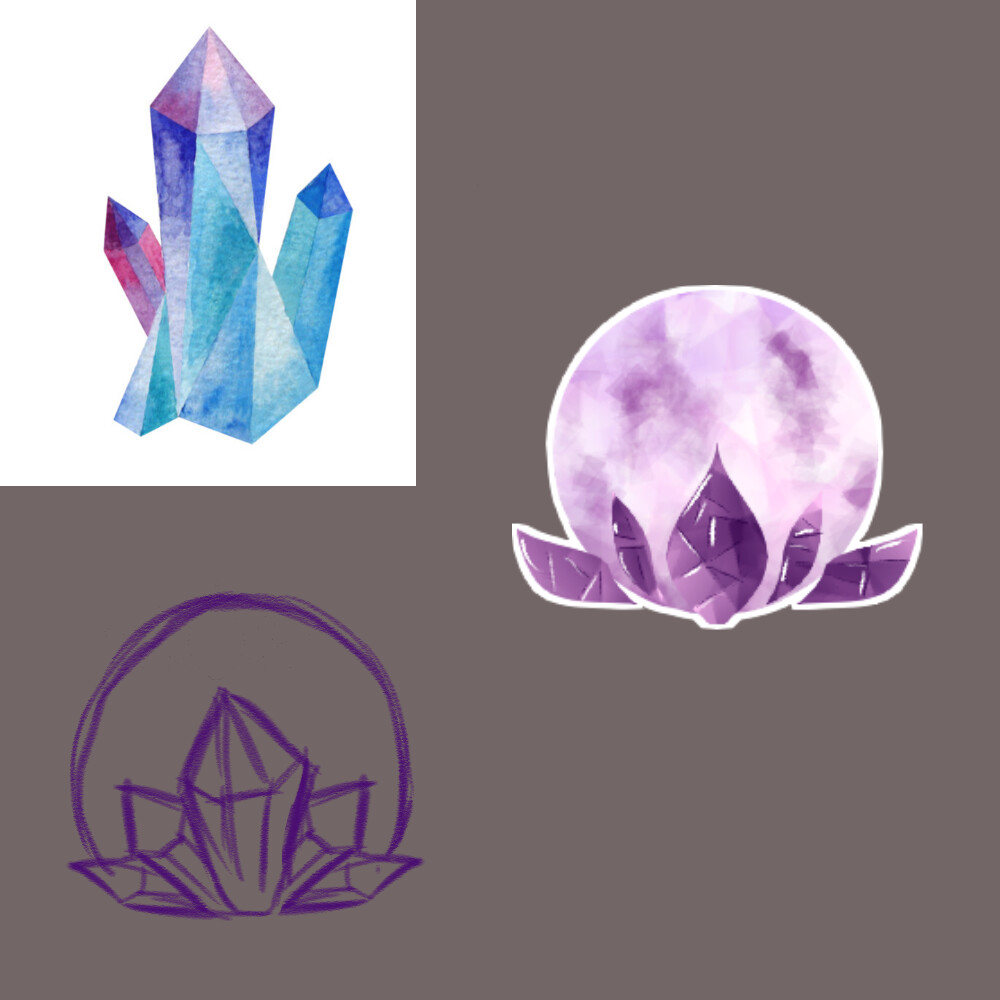 Concept Sketches 2 (With a crystal reference)