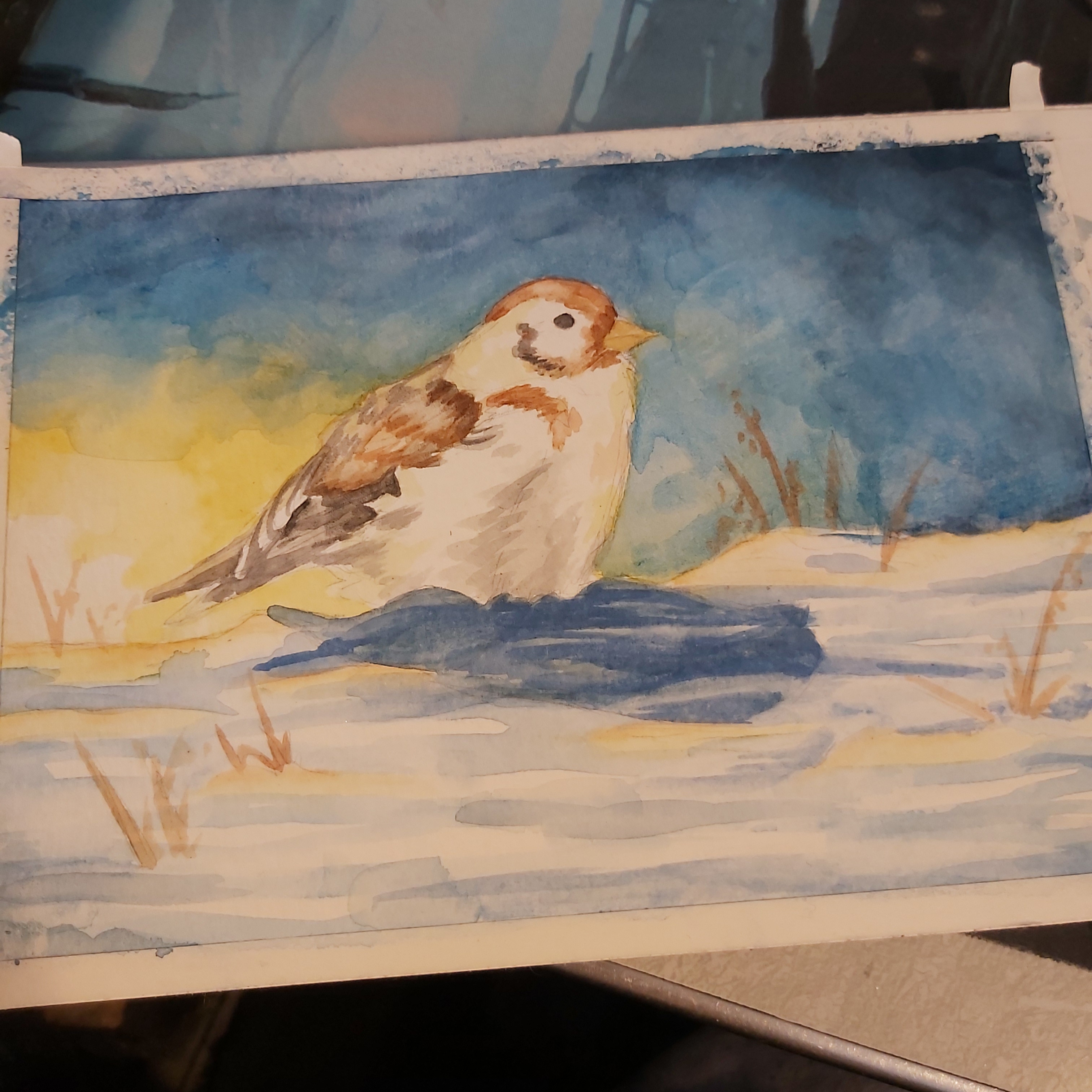 Few layers of watercolor