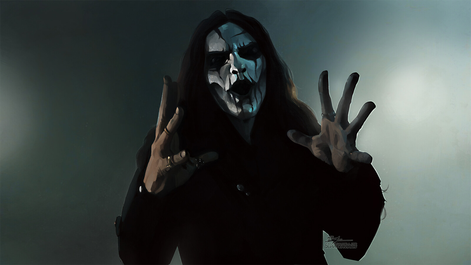 Everyone already knows I love drawing hands... turns out I like painting them as well.  Based on a still from Carach Angren's 'Charles Francis Coghlan': https://www.youtube.com/watch?v=REfg3XDWxlU