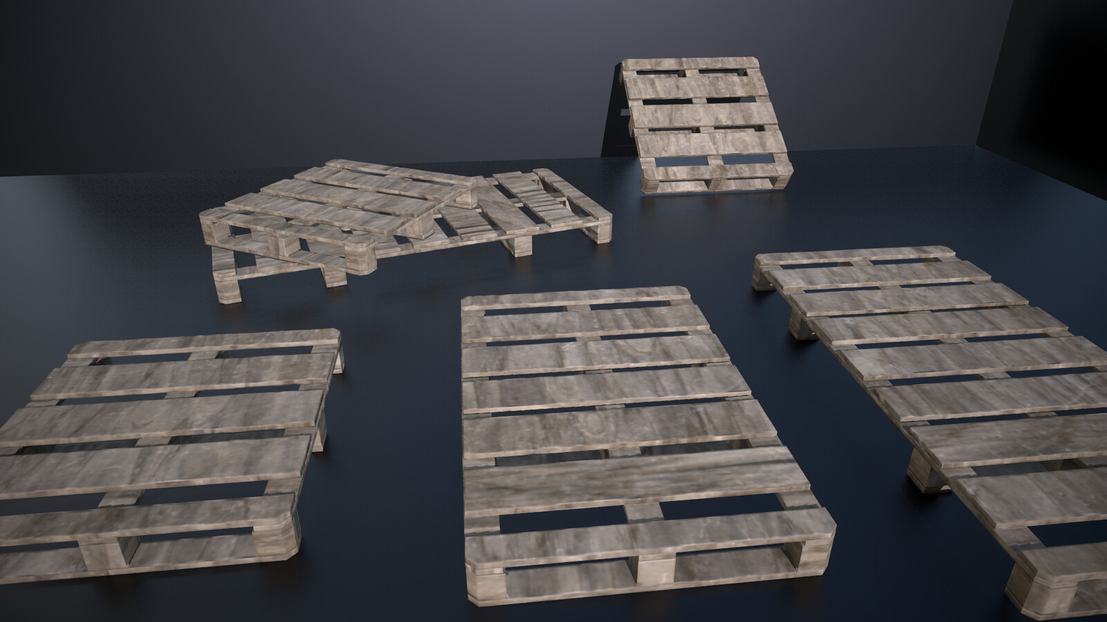 Wood pallets - three different props