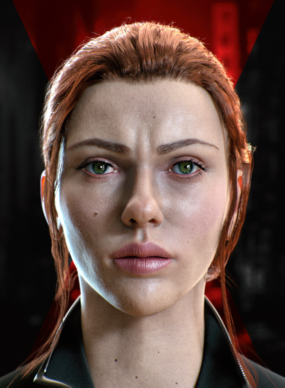 Artstation Black Widow Scarlett Johansson Likeness Eden Exposito