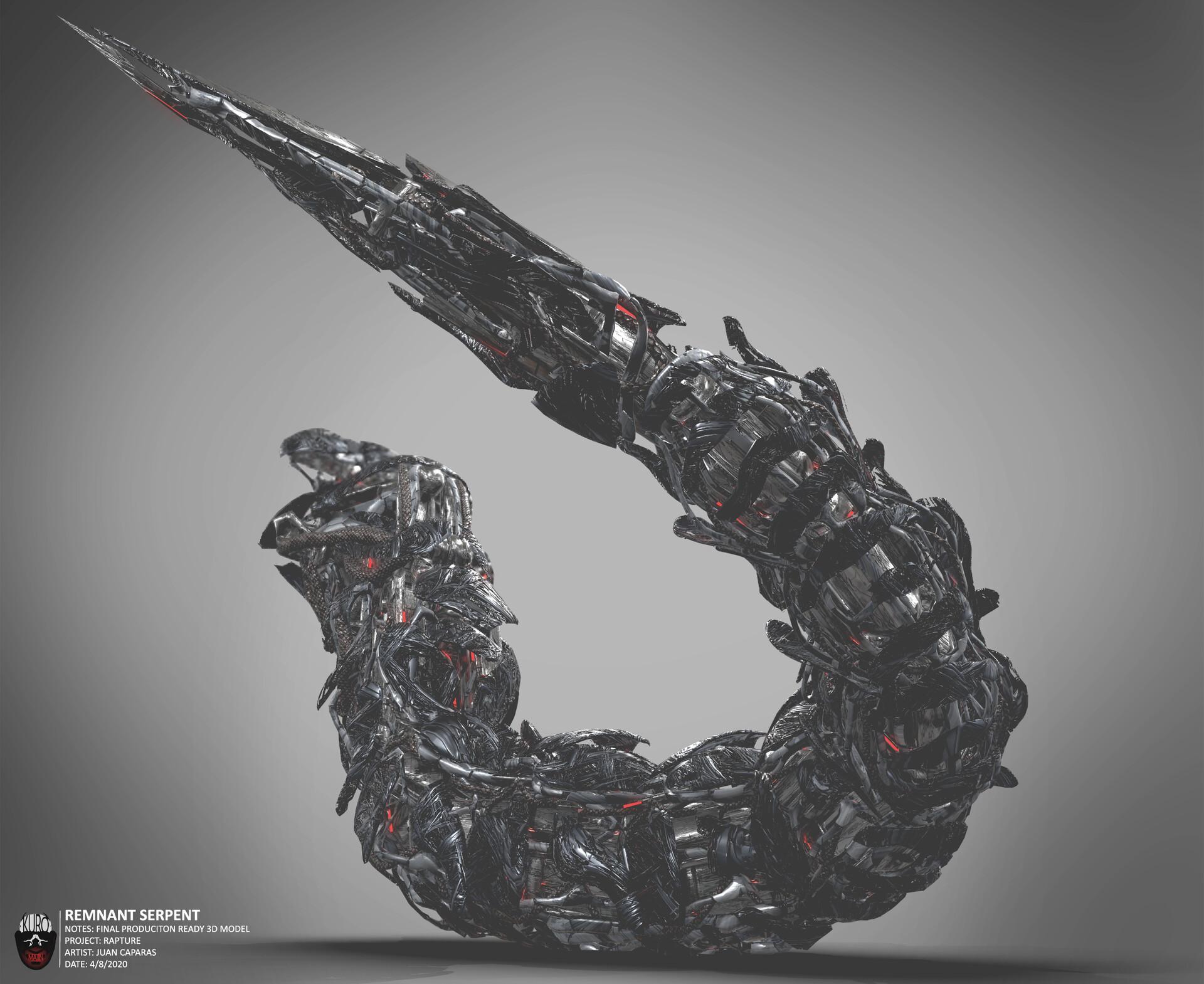 Remnant Serpent 3D Model   Kuro Majin Productions