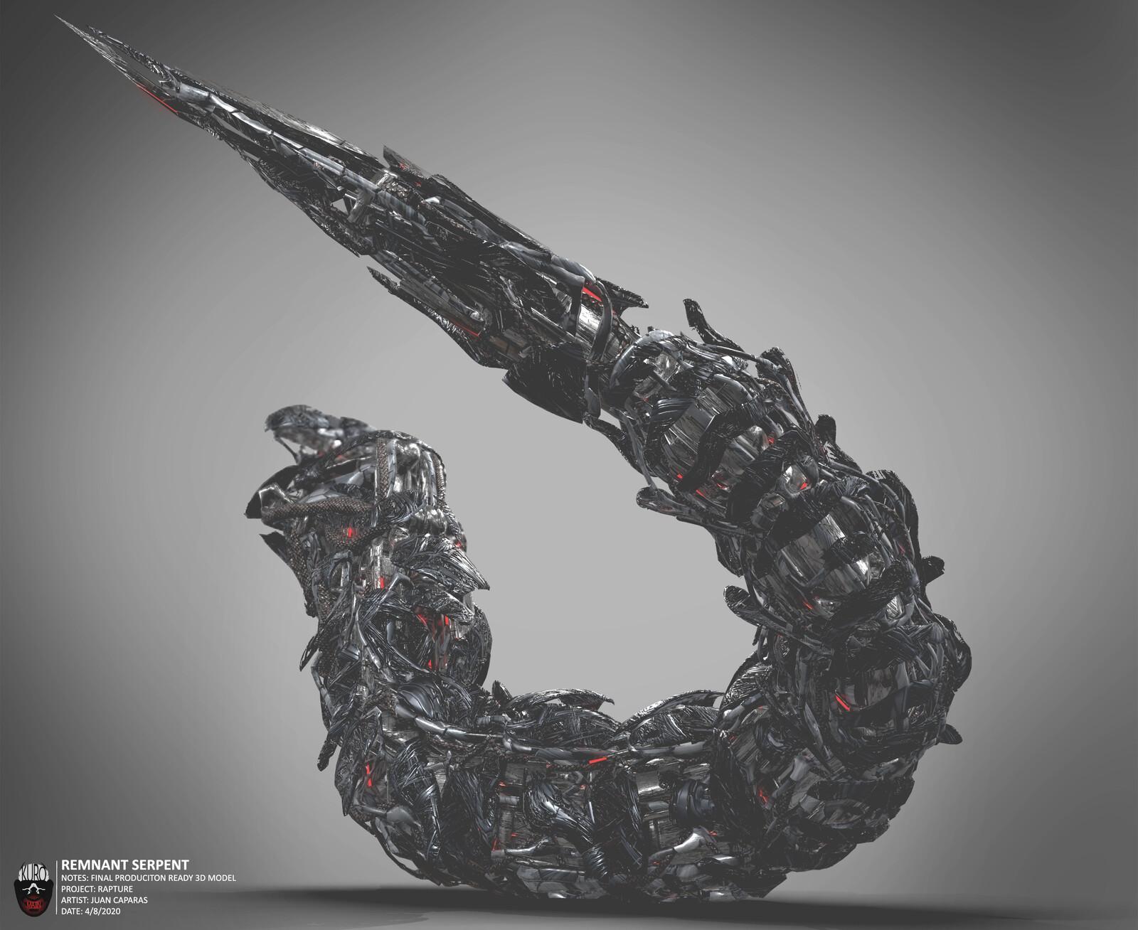 Remnant Serpent 3D Model | Kuro Majin Productions