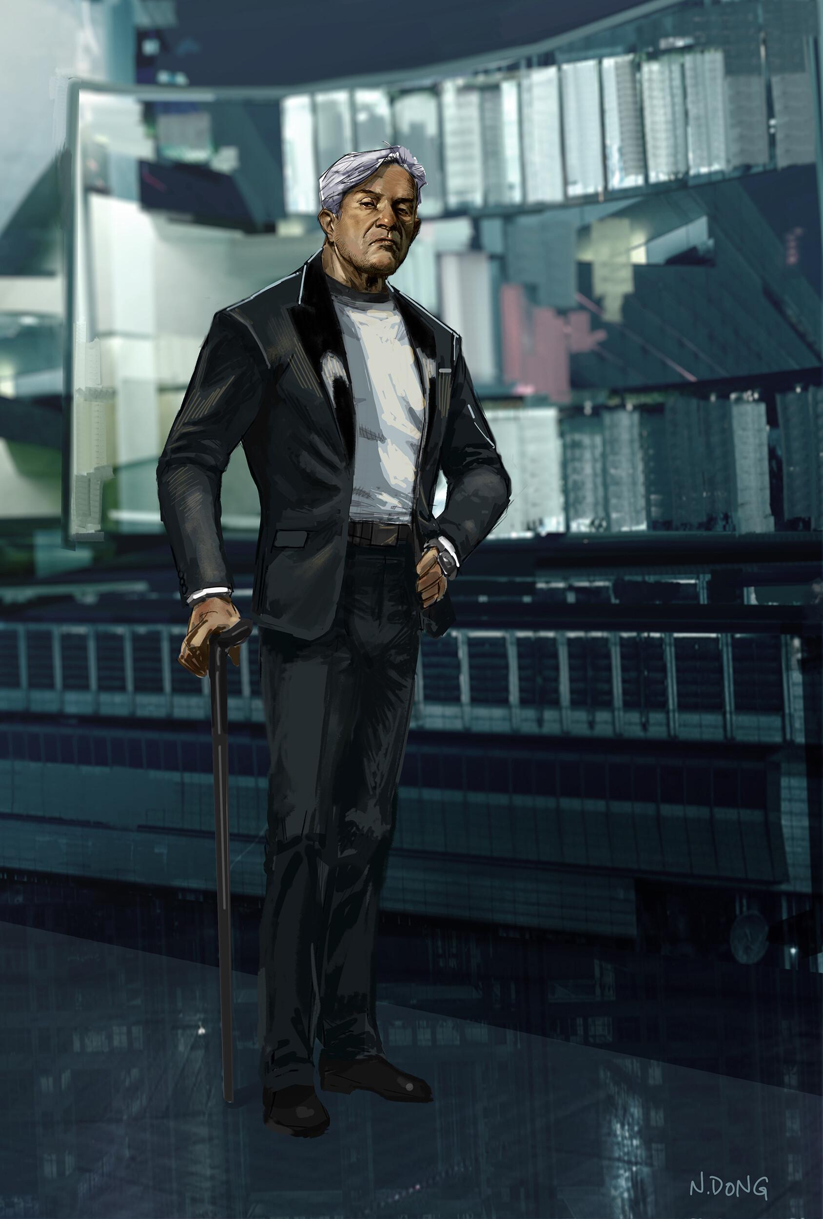 Bruce Wayne designed for a live action Batman Beyond film