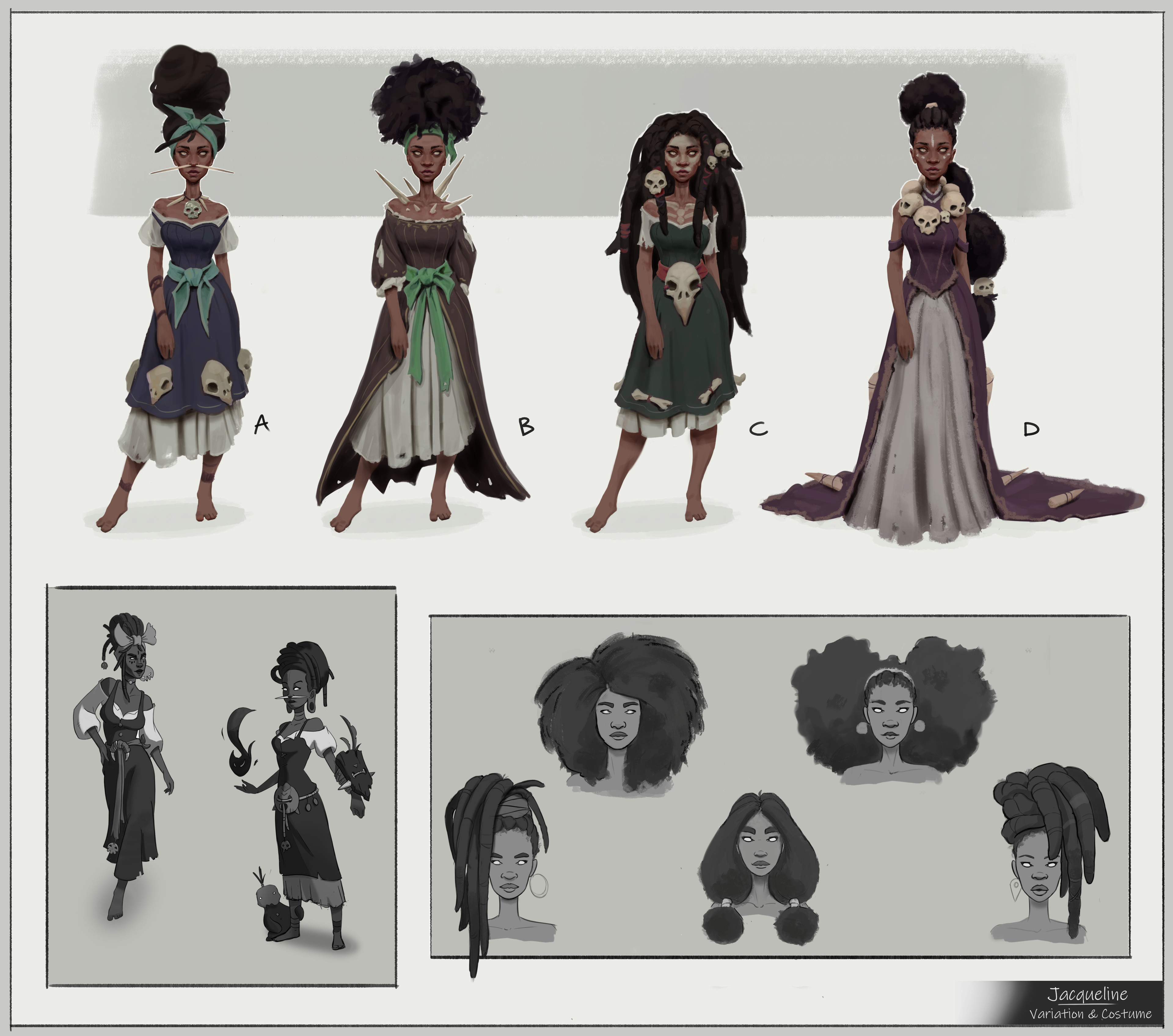 Variation and costume design.