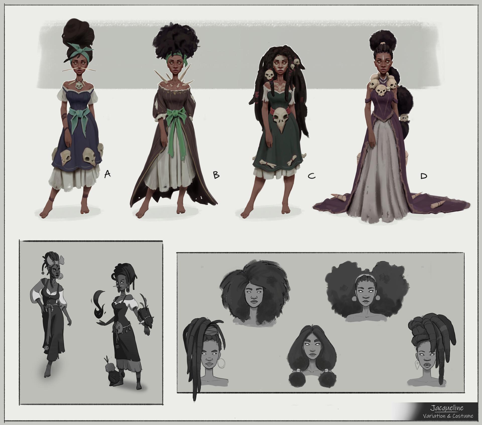 Variation and costume design.