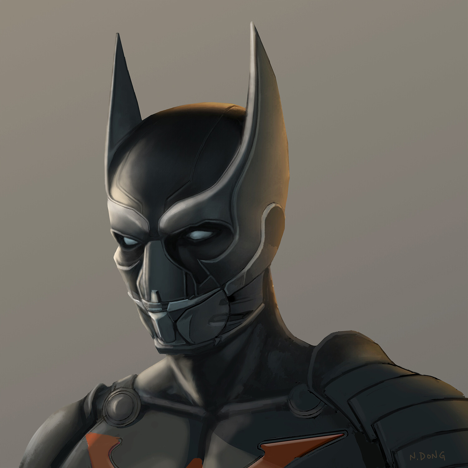 Batman mask designed for Batman Beyond as a live action film.