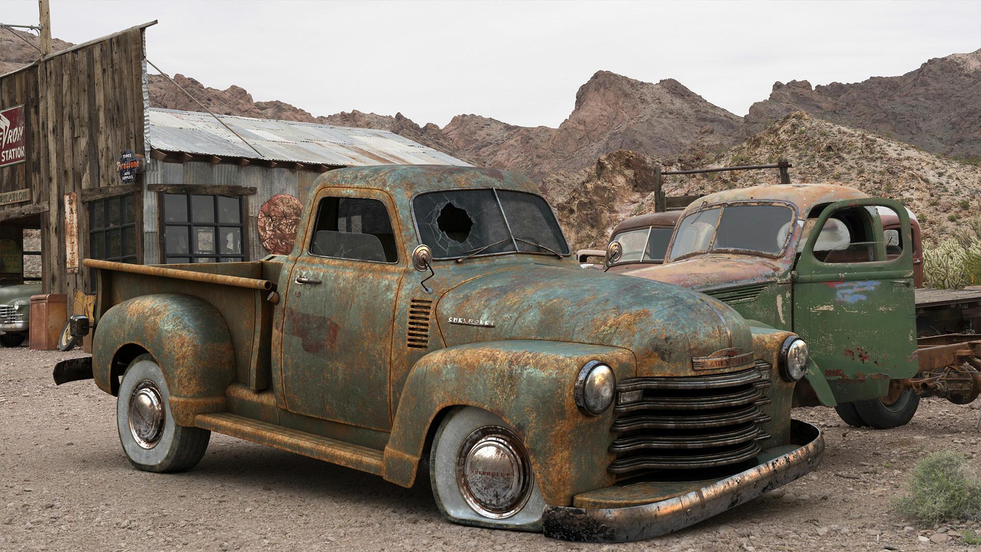 Ahmadreza Afsharmoghadam Rusty Chevrolet Pickup 1947