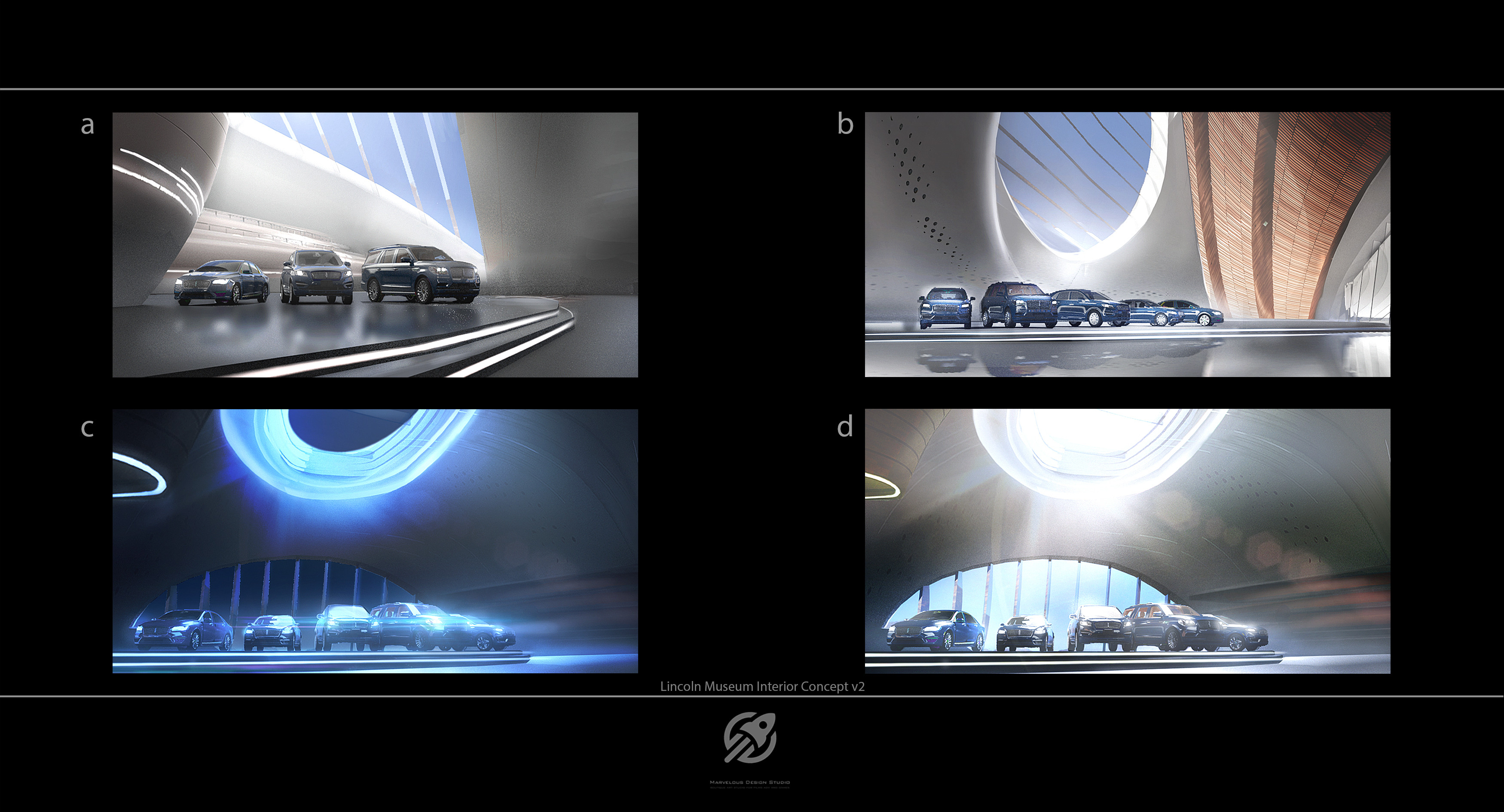 Quick drafts and thumbs  of  the space,design and lighting situations.