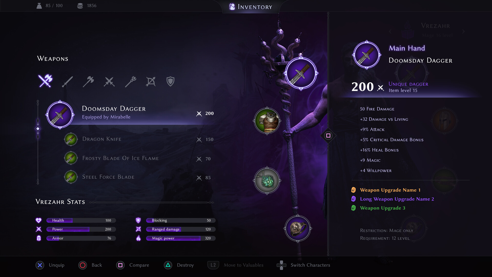 Nina Pykhtina - Dragon Age Inquisition UI redesign