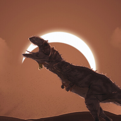 Thomas diana majungasaurus howling at the eclipse rvb3