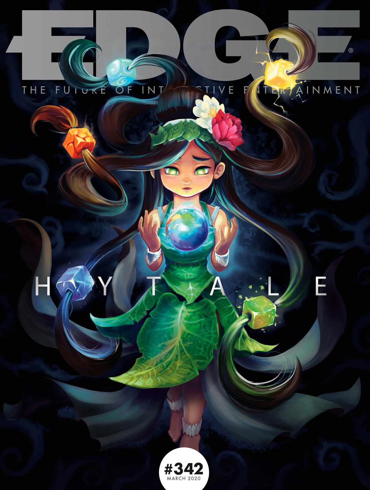 The magazine cover, titling and font by Edge magazine.