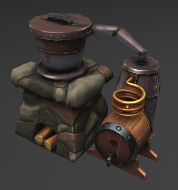 Was asked to remake this item from previous outsource work. Highpoly sculpt remains the same from previous artist, but I had to redo the topology of the lowpoly model, re-unwrap and retexture the prop.