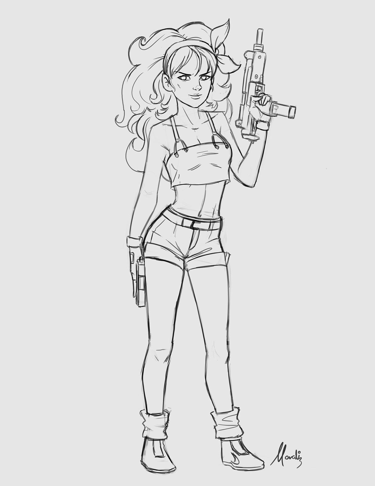 My initial sketch.