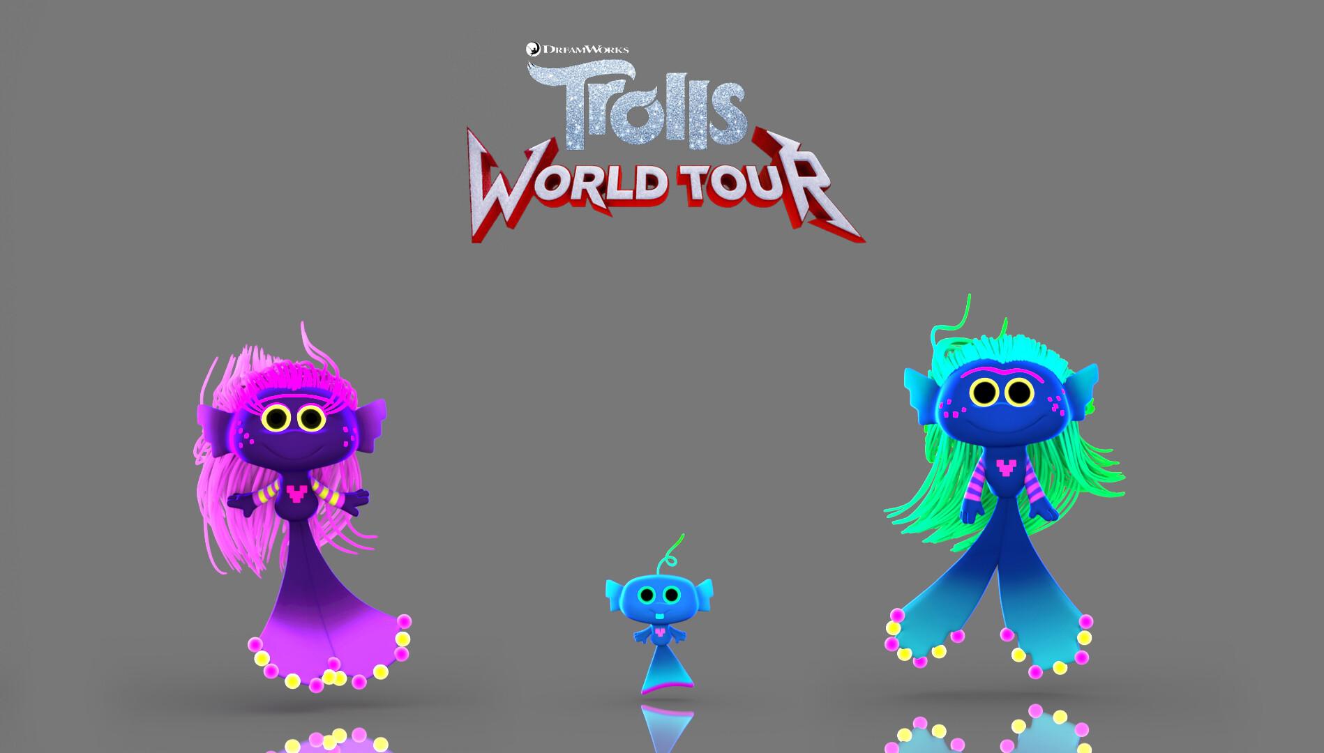 modeled the mermaid trolls family