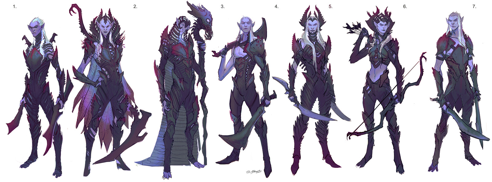 Dark Elves Designs for Canceled Game